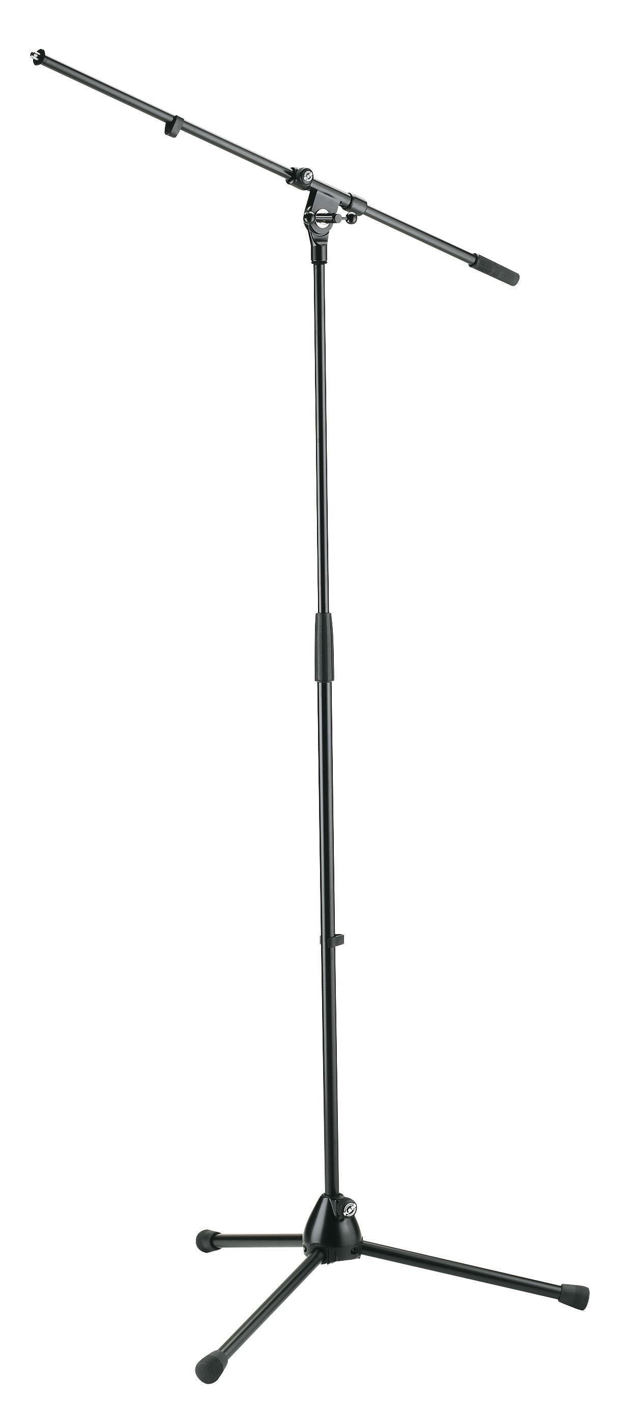 Afbeelding van K&M 210/2 microfoonstatief met 1-delige hengel in de kleur zwart