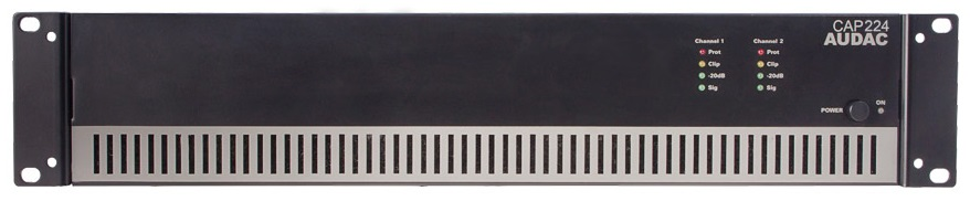 Afbeelding van Audac CAP 224 versterker 100 Volt 2x240 Watt