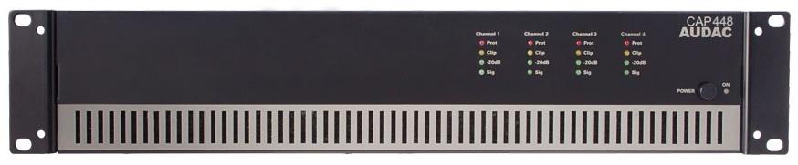 Afbeelding van Audac CAP 448 versterker 100 Volt 4x480 Watt
