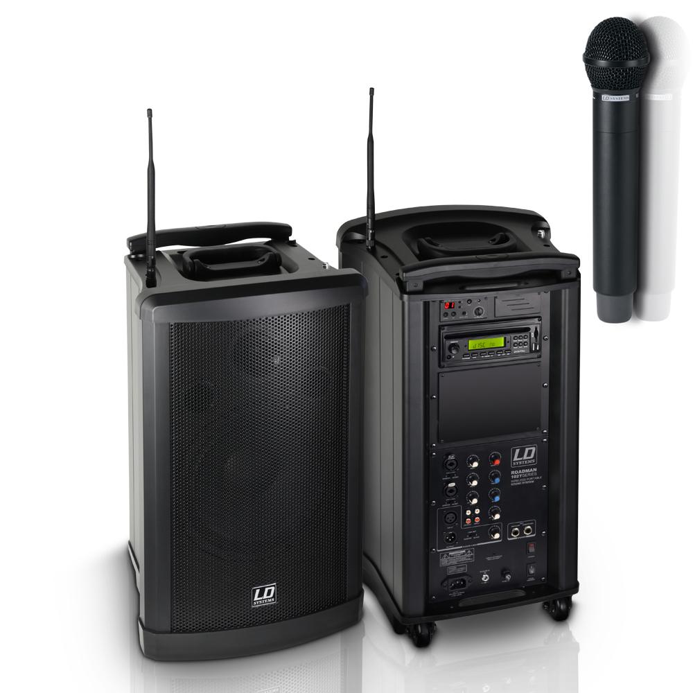 Afbeelding van LD Systems Roadman 102 B6 draagbare accu luidspreker met draadloze microfoon en CD/MP3/USB/SD