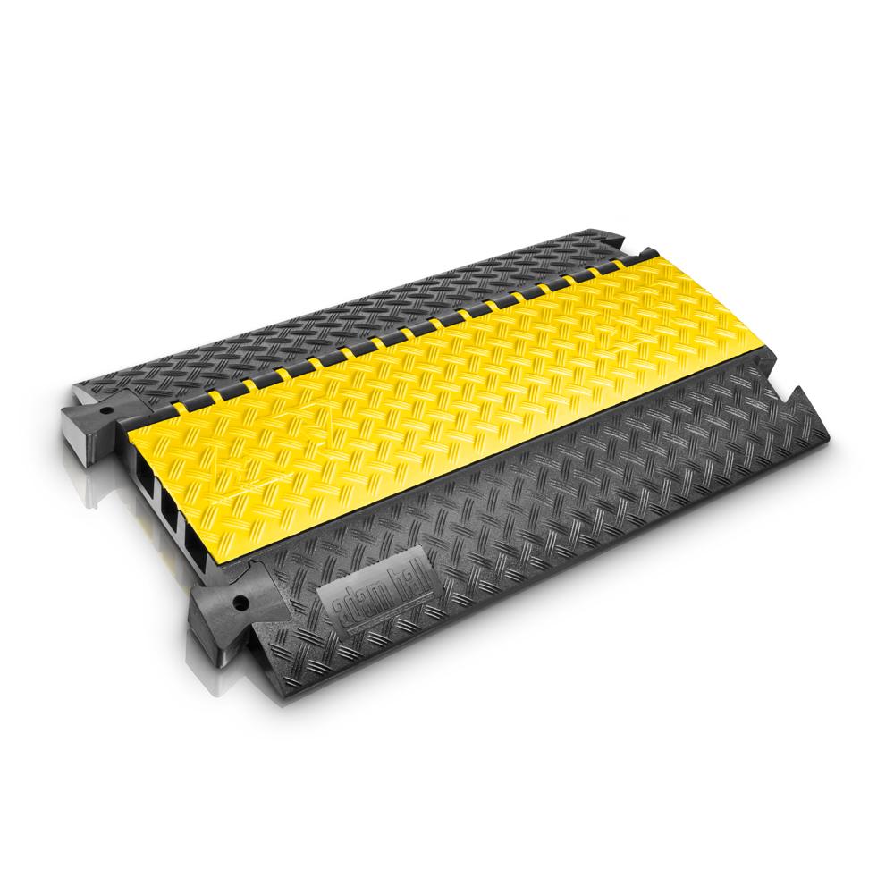 Afbeelding van Adam Hall Defender III kabelbrug zwart/geel 100cm