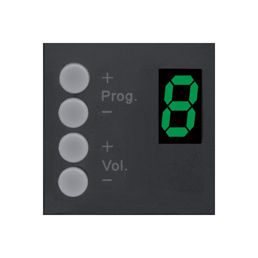 Afbeelding van Audac DW 3020B Wall Panel Controller voor R2/M2, kleur zwart