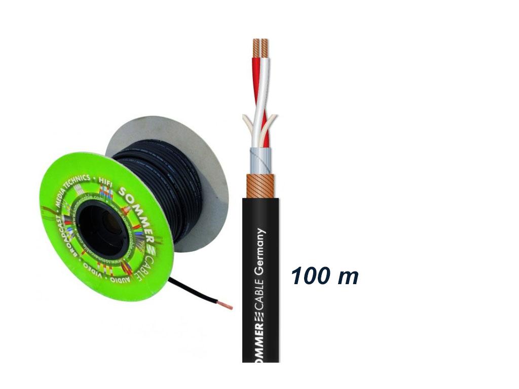 Afbeelding van Sommer Cable Binary 234 AES/EBU microfoonkabel 2x0,34mm zwart, rol van 100m