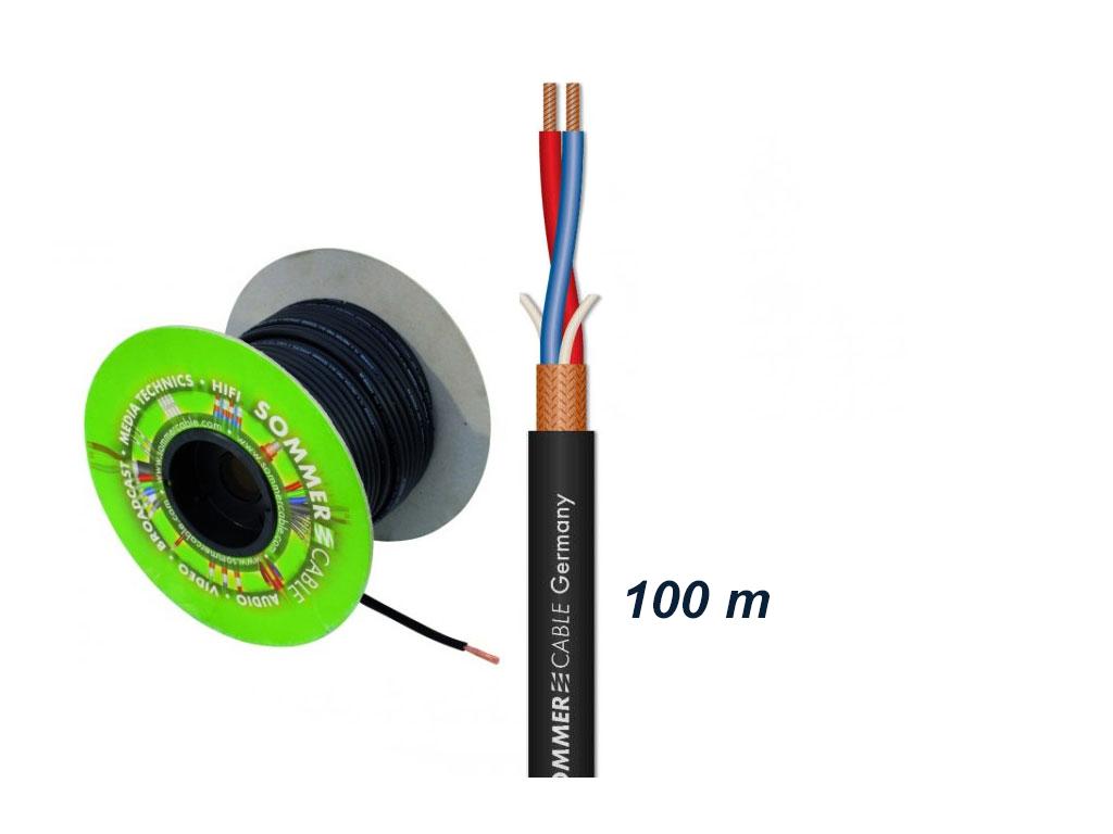 Afbeelding van Sommer Cable Club Series MKII microfoonkabel 2x0,34mm zwart, rol van 100m