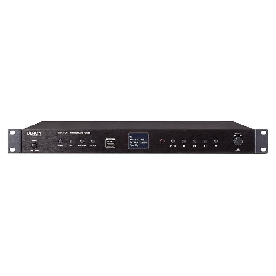 Afbeelding van Denon Professional DN 350 UI Internetradio met FM-radio, Spotify, USB en Bluetooth v.v. XLR-outputs