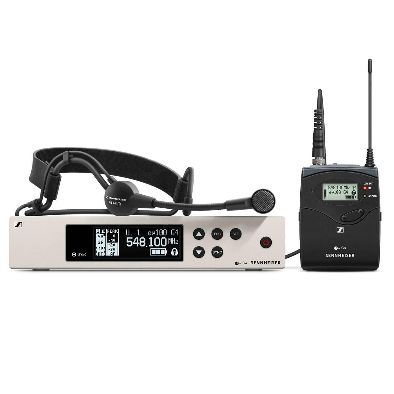 Afbeelding van Sennheiser ew 100 G4-ME3 draadloze headset (626-668 MHz)