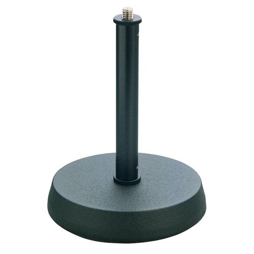 Afbeelding van K&M 232 tafelstatief met ronde verzwaarde voet en een hoogte van 13cm