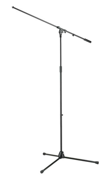 Afbeelding van K&M 21021 extra hoog en lang microfoonstatief voor b.v. overhead en koormics