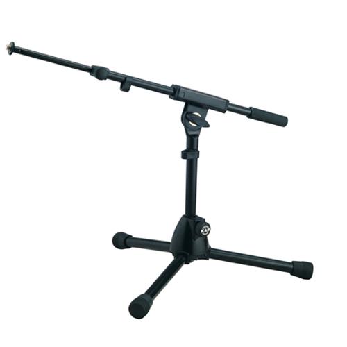 Afbeelding van K&M 25950 microfoonstatief extra laag met 2-delige hengel, kleur zwart