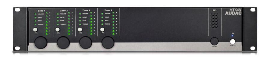 Afbeelding van Audac MTX 48 digitale matrix mixer met 4 zones en 6 inputs