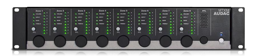 Afbeelding van Audac MTX 88 digitale matrix mixer met 8 zones en 6 kanalen