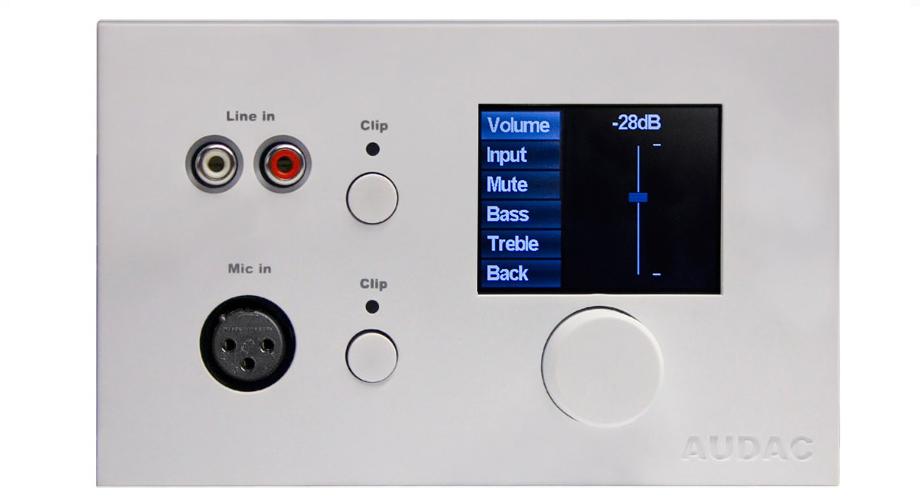 Afbeelding van Audac MWX 65/W Wall Panel Controller voor MTX