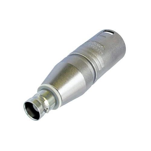 Afbeelding van Neutrik NA 2 MBNC Adapter XLR male naar BNC female