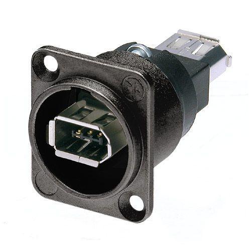 Afbeelding van Neutrik NA 1394-6-WB Firewire chassisdeel doorvoer zwart