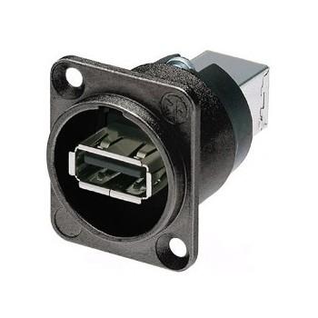 Afbeelding van Neutrik NA USB-W-B USB chassisdeel doorvoer zwart
