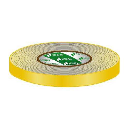 Afbeelding van Nichiban Gaffa Tape 19mm geel 50m, per rol