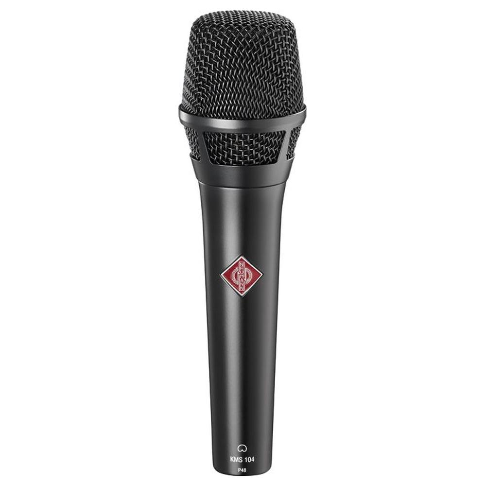 Afbeelding van Neumann KMS 104 bk condensatormicrofoon voor zang en spraak, nier
