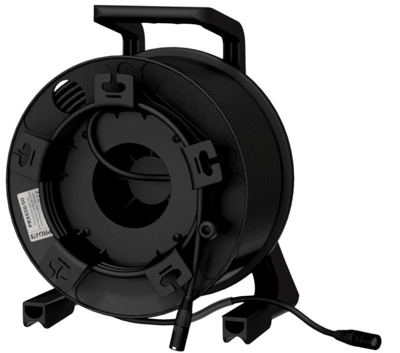 Afbeelding van Procab PRX656/50 haspel met 50 meter CAT6 kabel en Neutrik Ethercon + uitspin