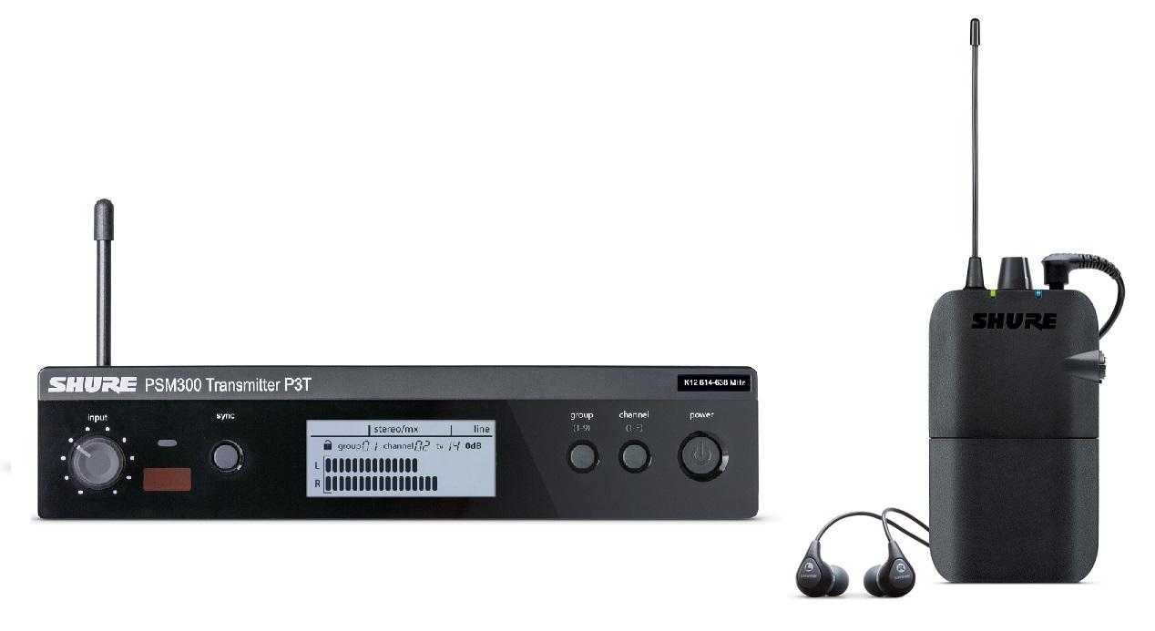 Afbeelding van Shure PSM 300 P3TER112GR in ear systeem