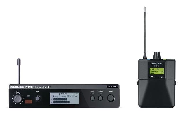 Afbeelding van Shure PSM 300 P3TERA in ear systeem PRO