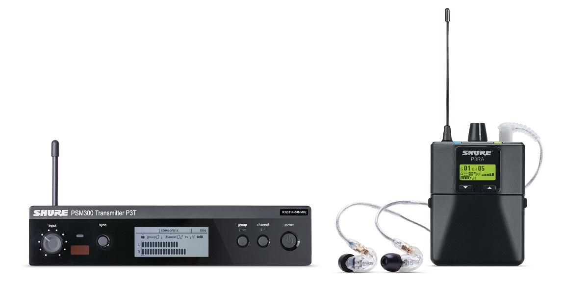 Afbeelding van Shure PSM 300 P3TERA215CL in ear systeem PRO