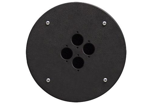 Afbeelding van Procab CRP 304 blindplaat met 4x D-size hole voor Procab CDM-310