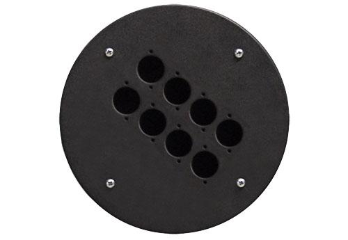 Afbeelding van Procab CRP 308 blindplaat met 8x D-size hole voor Procab CDM-310