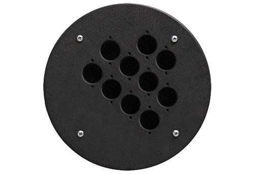 Afbeelding van Procab CRP 310 blindplaat met 10x D-size hole voor Procab CDM-310