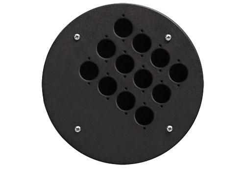 Afbeelding van Procab CRP 312 blindplaat met 12x D-size hole voor Procab CDM-310