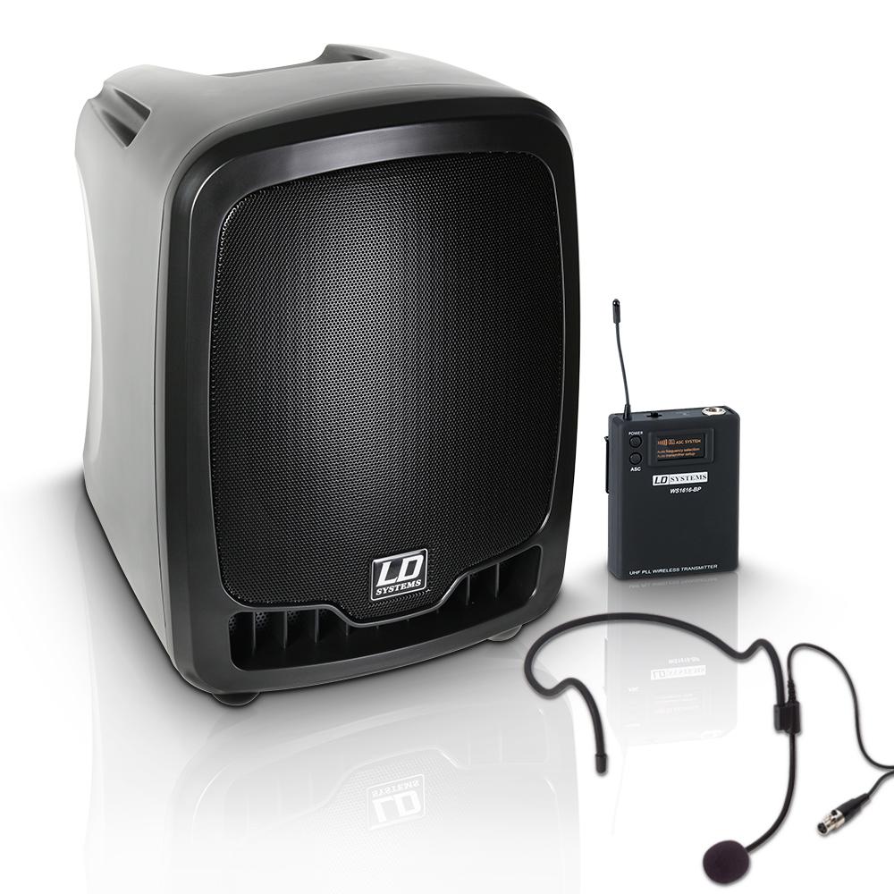 Afbeelding van LD Systems Roadboy 65 stemversterker met headset
