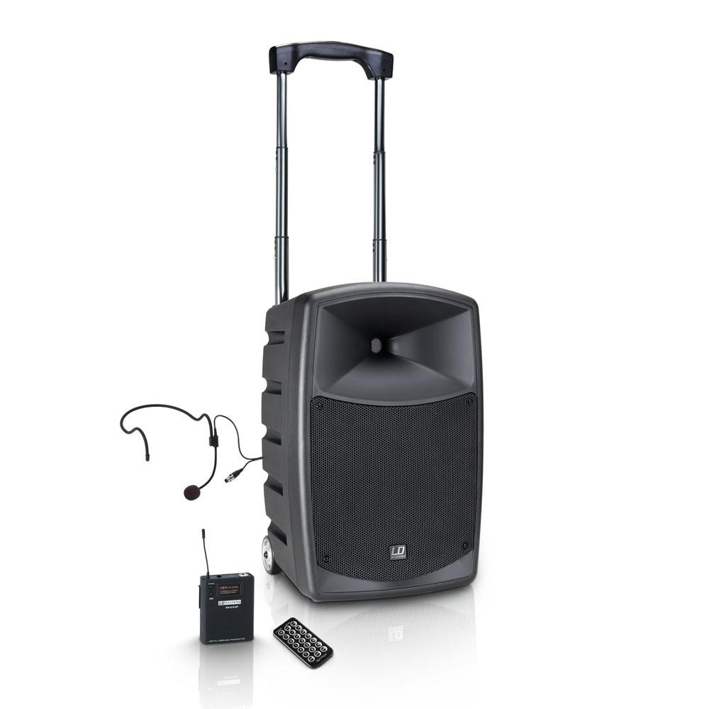 Afbeelding van LD Systems Roadbuddy 10 luidspreker op accu met draadloze headset en bluetooth