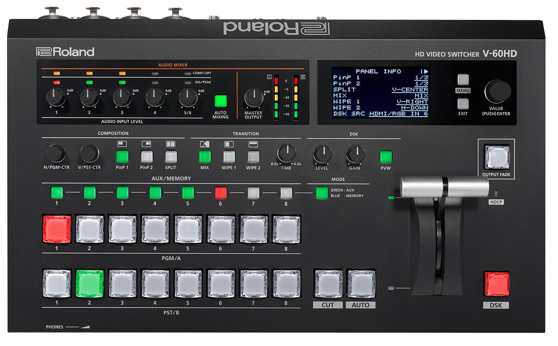 Afbeelding van Roland V-60HD videomixer 4-kanaals FULL HD met audio en AUX-bus