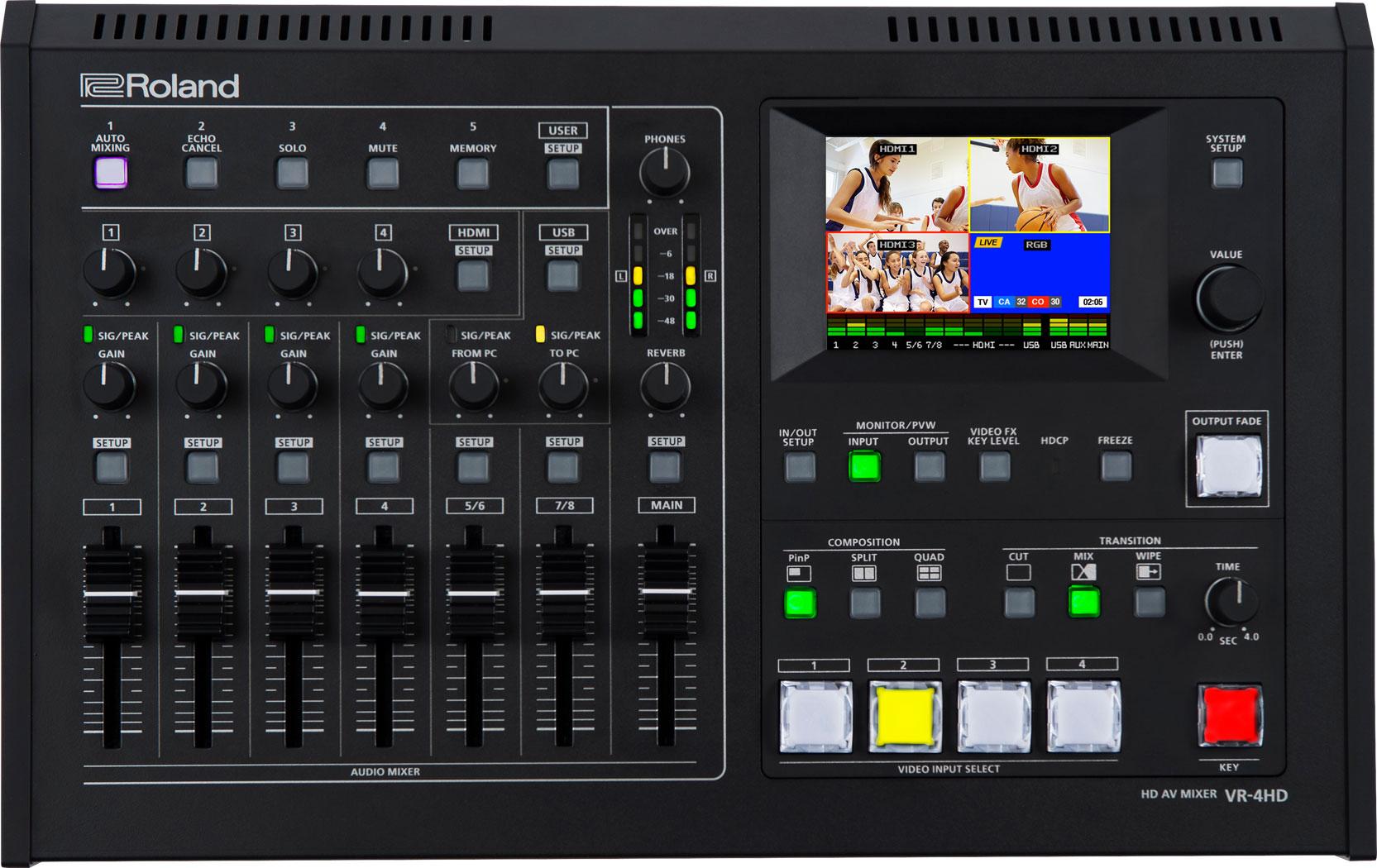 Afbeelding van Roland VR 4 HD videomixer FULL HD met audio en streaming
