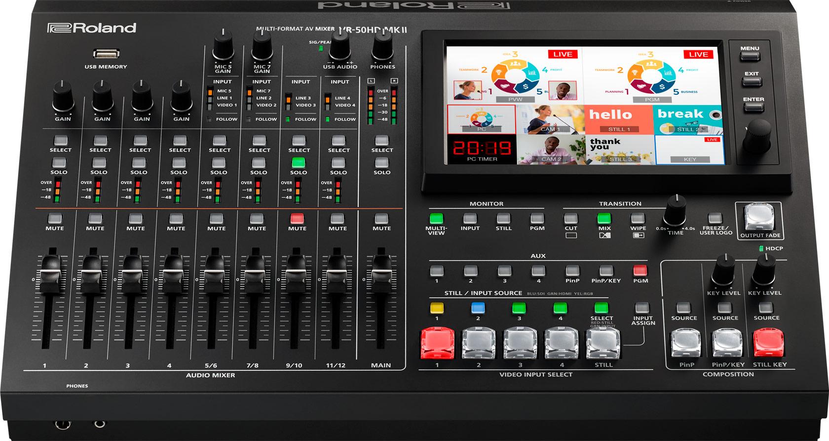 Afbeelding van Roland VR-50 HD MK2 videomixer FULL HD met audio en streaming