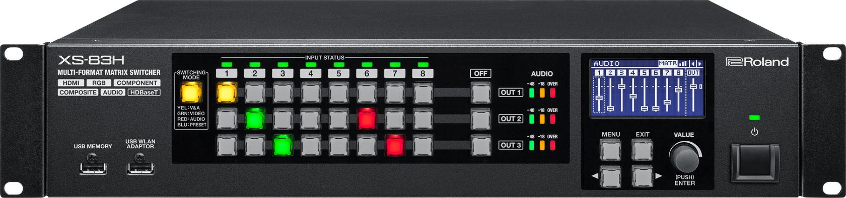 Afbeelding van Roland XS-83H Multi Format AV Matrix Switcher 8 in / 3 uit