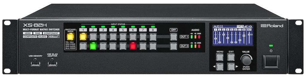 Afbeelding van Roland XS-82H Multi Format AV Matrix Switcher 8 in / 2 uit