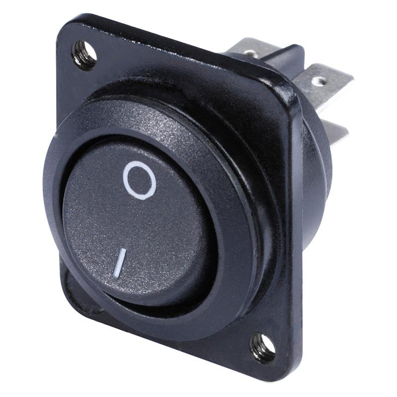 Afbeelding van PAS Inbouwschakelaar zwart 2-polig