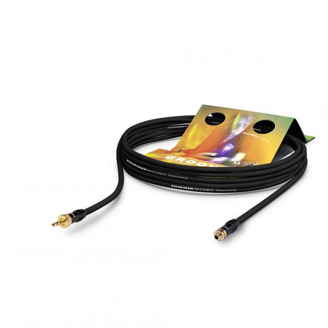 Afbeelding van Sommer Cable SC-Goblin 3,5mm jack verlengkabel met lock, lengte 2,5m