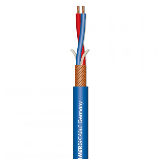 Afbeelding van Sommer Cable Stage 22 Highflex microfoonkabel 2x0,22mm blauw, knip p/m