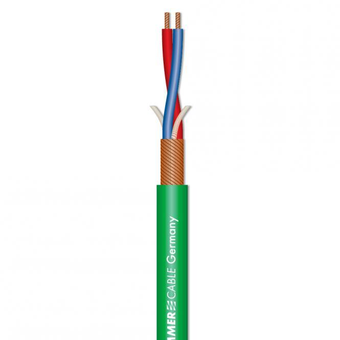 Afbeelding van Sommer Cable Stage 22 Highflex microfoonkabel 2x0,22mm groen, knip p/m
