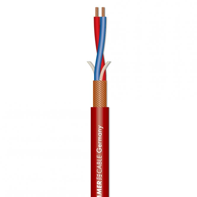 Afbeelding van Sommer Cable Stage 22 Highflex microfoonkabel 2x0,22mm rood, knip p/m