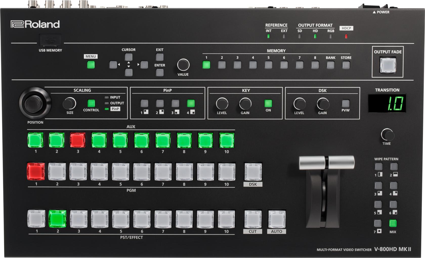 Afbeelding van Roland V-800HD MKII videomixer met 16 inputs FULL HD 3G