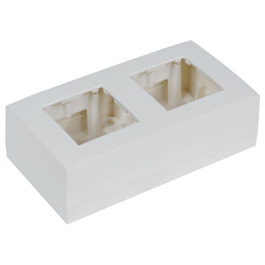 Afbeelding van Audac WB45D/W muur montagebox voor 2x insert, kleur wit