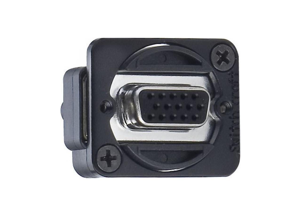Afbeelding van Switchcraft EHHD 15 FFB VGA chassisdeel doorvoer zwart