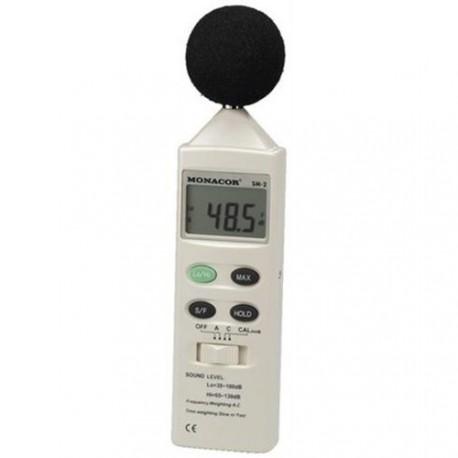 Afbeelding van Monacor SM 2 decibelmeter 35-130dB incl. opbergtas