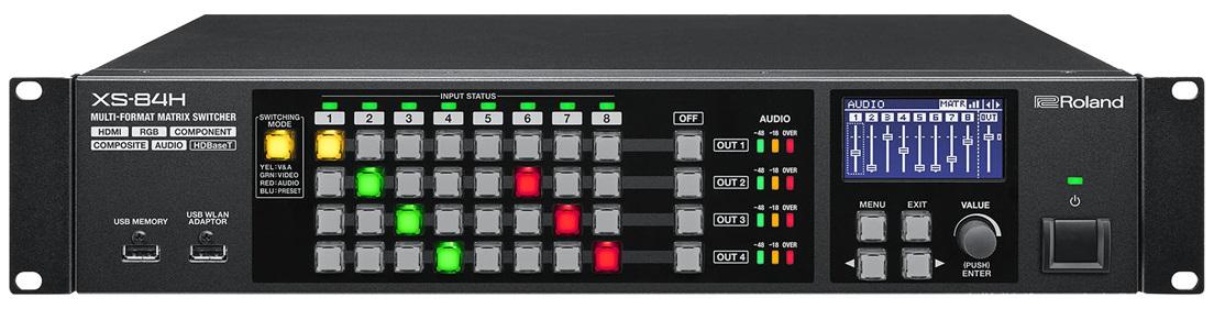 Afbeelding van Roland XS-84H Multi Format AV Matrix Switcher 8 in / 4 uit