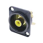 NF 2 DB 4 RCA Tulp chassisdeel zwart met gele codering