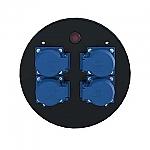 KOMB MD4 blindplaat met 4x schuko en beveiliging voor GT-310 en HT-380 haspel