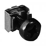 KS600 set van 100 stuks Kooibout M6 16mm zwart + ring