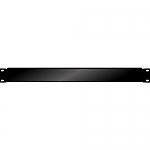 Blindplaat 19 inch 1HE met omgeknikte rand voor extra stevigheid
